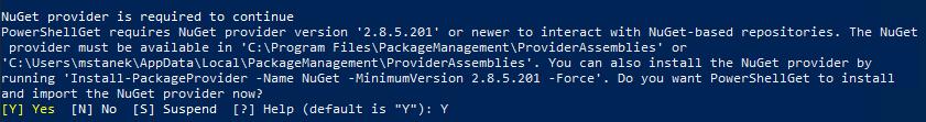 Prośba o potwierdzenie aktualizacji NuGet-a
